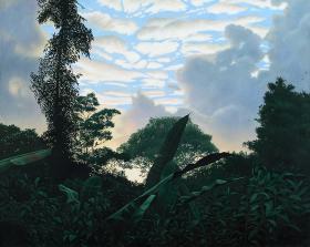 Landscape with monkey