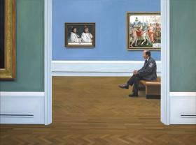 A Custodian in the National Gallery